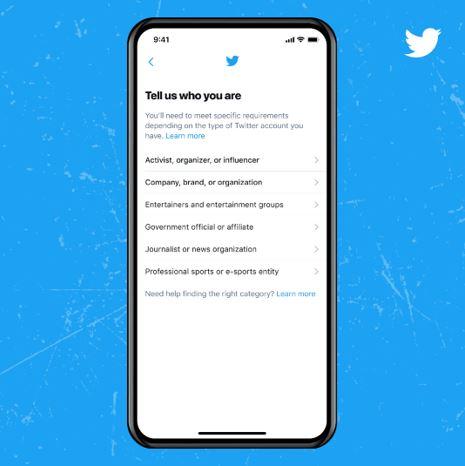 Verify Twitter account