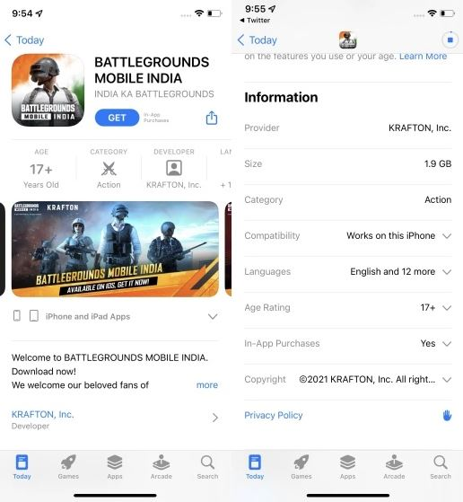 BGMI for iOS devices