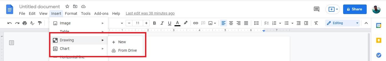 Google Docs Drawing tool