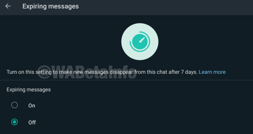 expiring messages