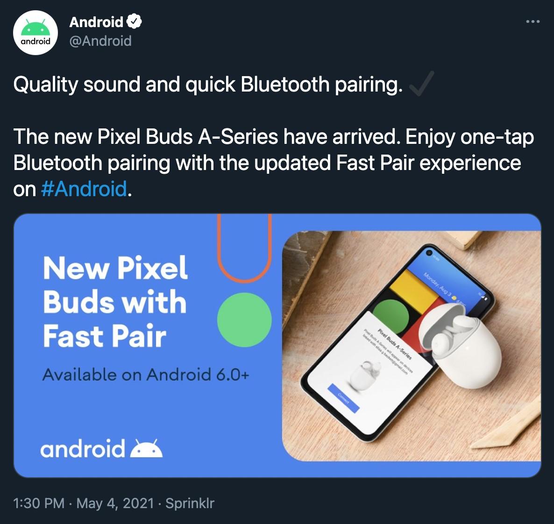 Google Pixel Buds A Tweet