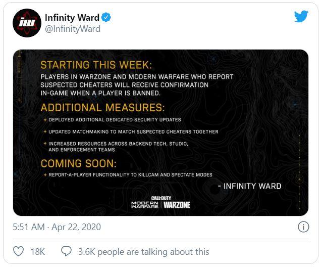 Infinity Ward new match making