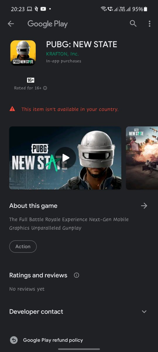 PUBG New State Play Store