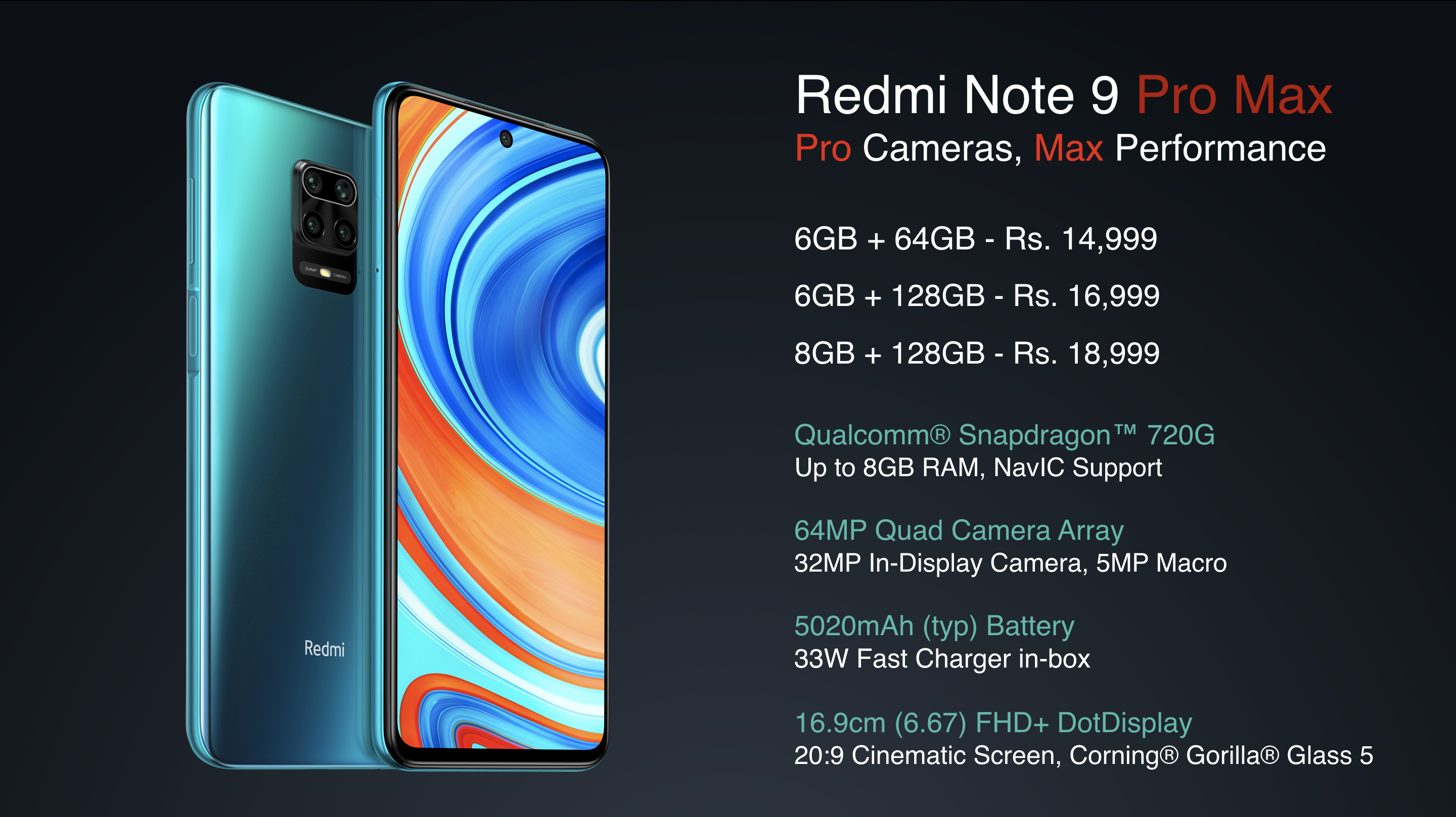 Xiaomi Redmi Note 9 Pro And Redmi Note 9 Pro Max Launched Gizmeek