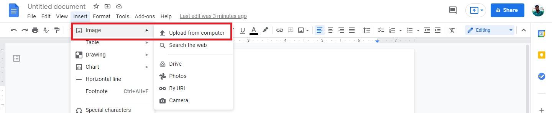 Google Dosc Image Upload