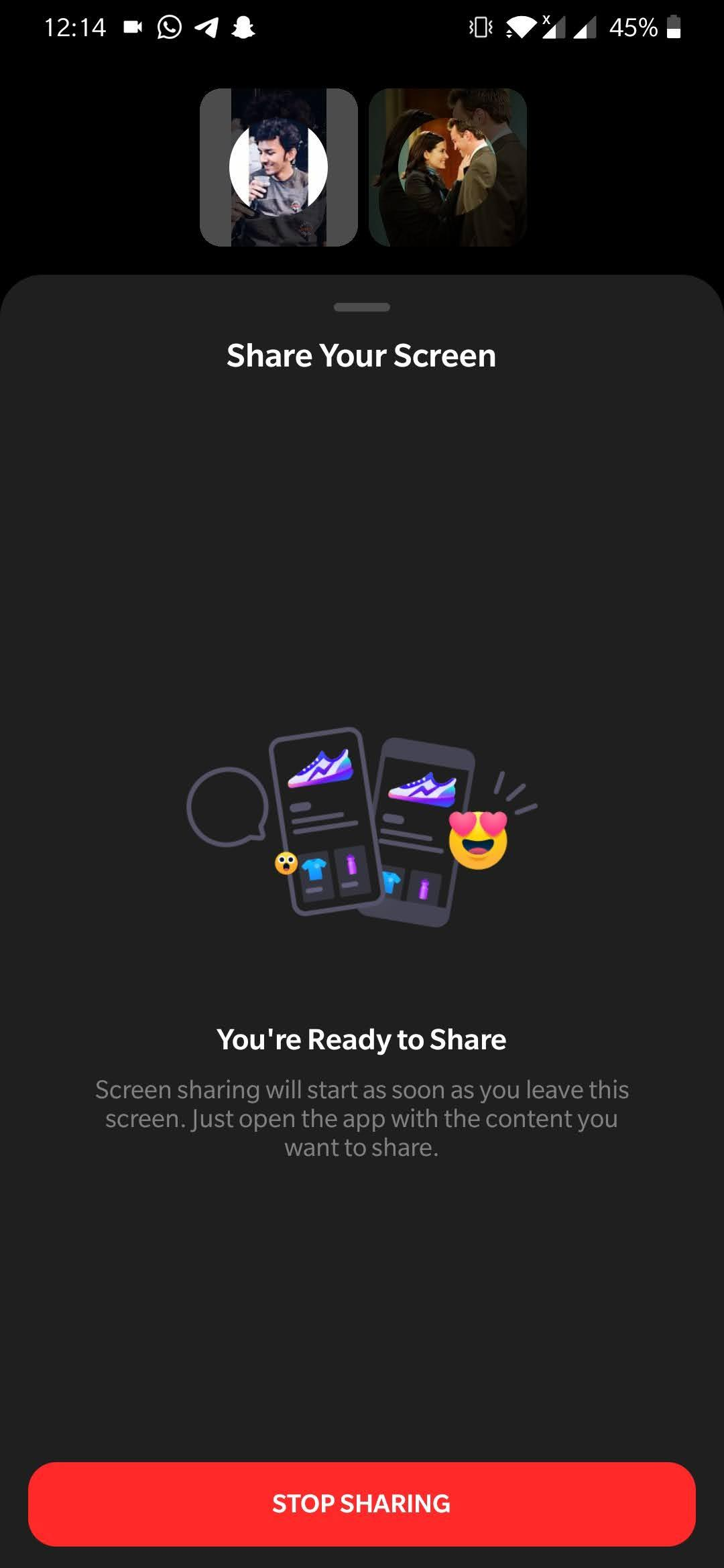 Facebook Screen Sharing