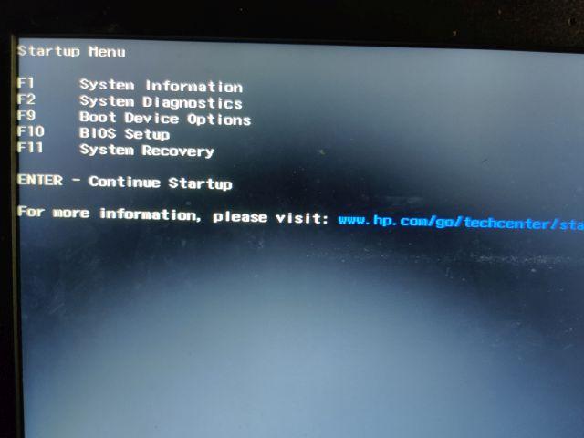 BIOS Boot Menu