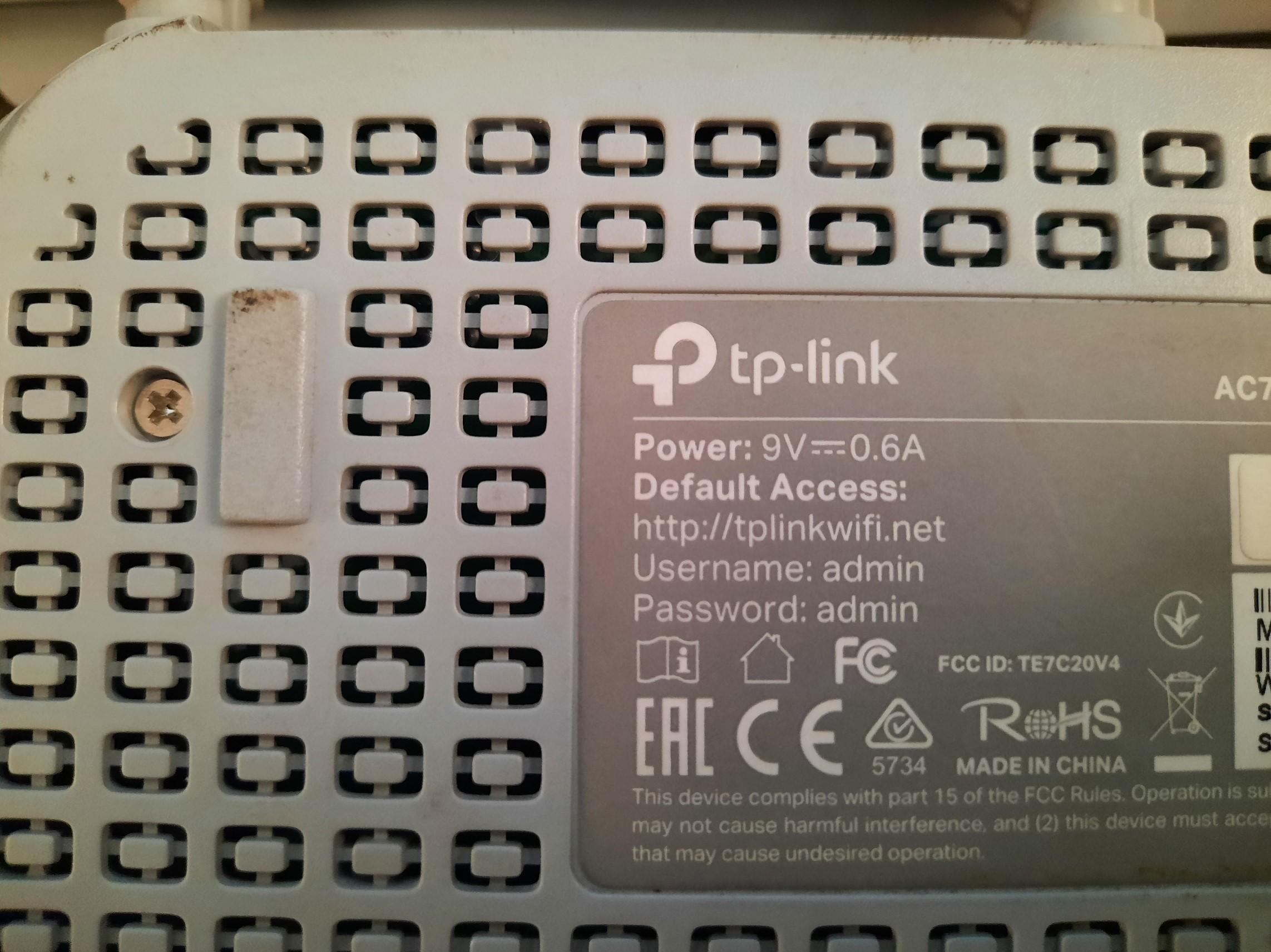 Router Back Image IP Address
