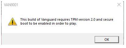 Valorant TPM error
